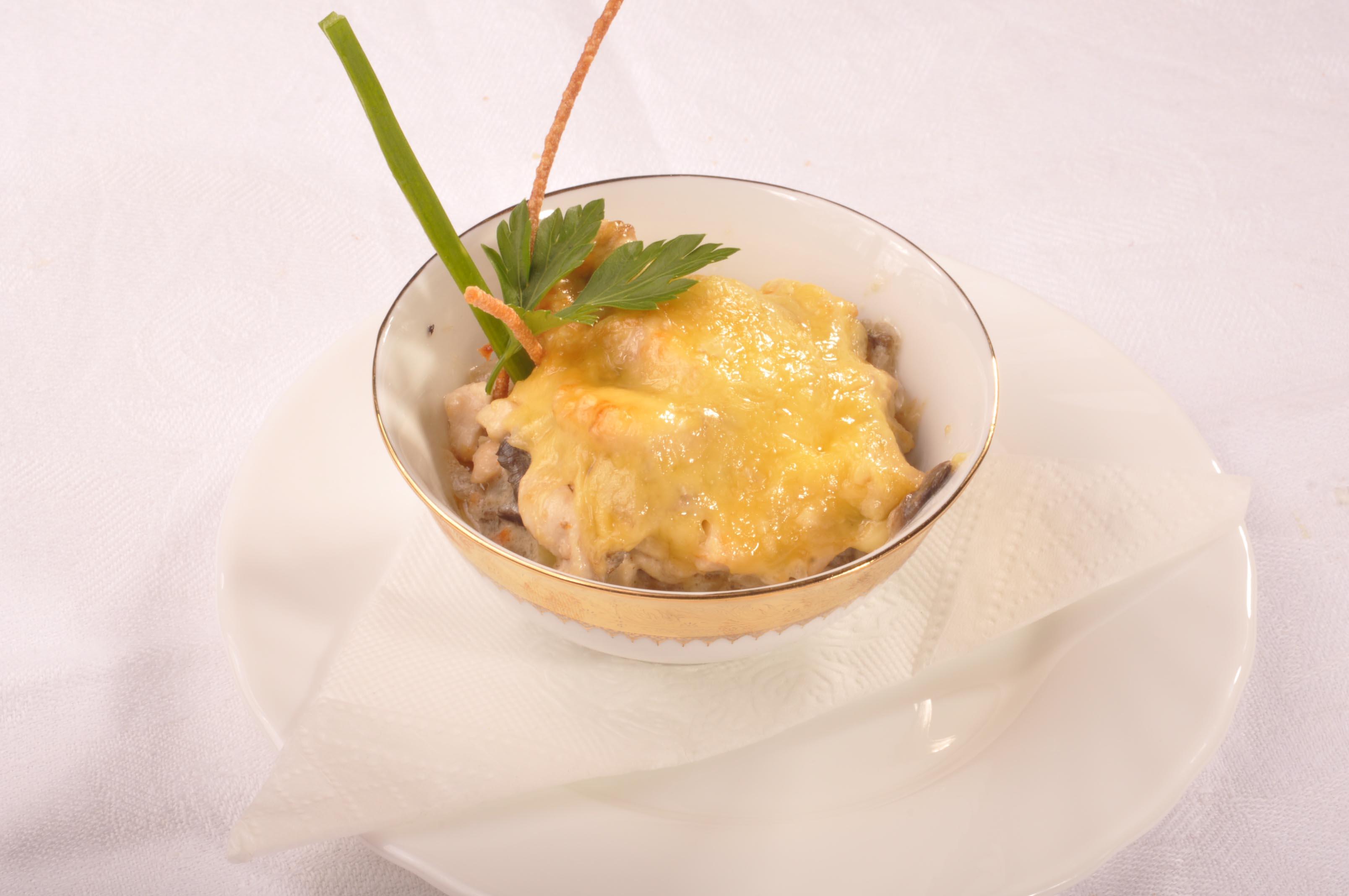 Жульен из лесных замороженных грибов рецепт 2